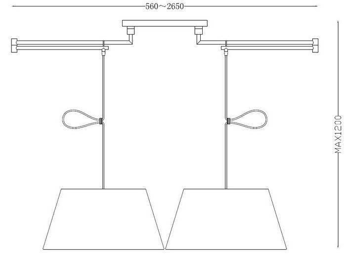 Lampa wisząca NATALIA 2S Azzardo MD2238 2S WHITE BLACK (kolor do wyboru)